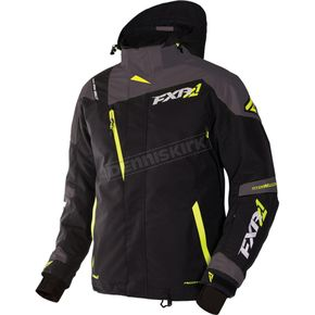 FXR Racing Black/Charcoal/Hi-Vis Mission X Jacket - 170008-1008-28