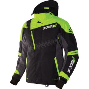FXR Racing Black/Charcoal.Lime Mission X Jacket - 170008-1070-10