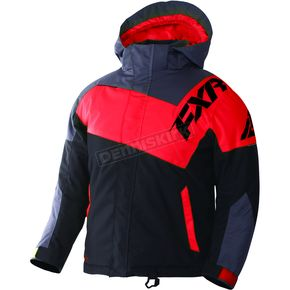 FXR Racing Youth Black/Charcoal/Red Squadron Jacket - 170400-1020-14