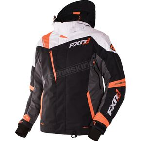 FXR Racing Black/Charcoal/White Weave/Orange Mission X Jacket - 170008-1002-22