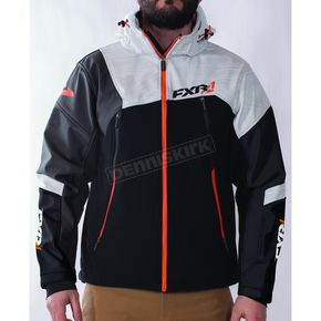 FXR Racing Black/Charcoal/White/Orange Renegade Softshell Jacket - 170927-0801-19