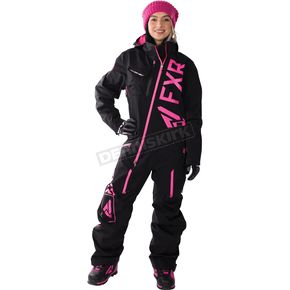 FXR Racing Women's Black/Electric Pink Ranger Instinct Monosuit - 172903-1094-08