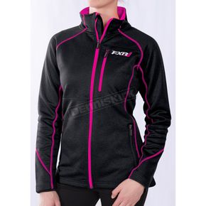 FXR Racing Women's Black/Fuchsia Elevation Tech Zip-Up - 171001-1090-16