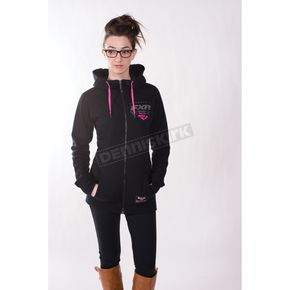 FXR Racing Women's Black/Fuchsia Factory Ride Hoody - 171400-1090-19