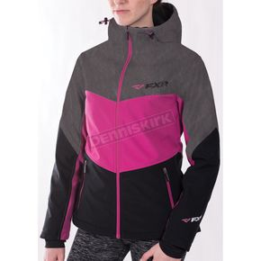 FXR Racing Women's Black/Fuchsia Fresh Softshell Jacket - 171010-1090-16