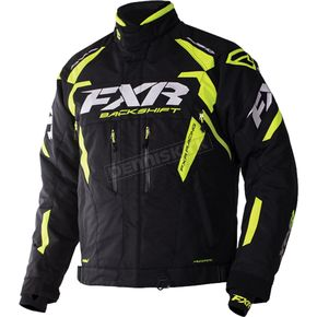 FXR Racing Black/Hi-Vis Backshift Pro Jacket - 170000-1065-16