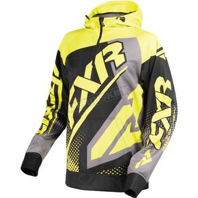 FXR Racing Black/Hi-Vis Race Tech 1/4 Zip Hoody - 170926-1065-16