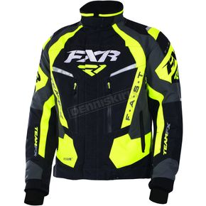 FXR Racing Black/Hi-Vis/Charcoal Team FX Jacket - 170019-1065-10