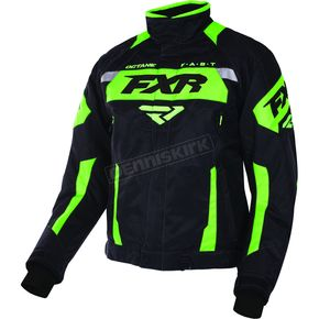 FXR Racing Black/Lime Octane Jacket - 170006-1070-19