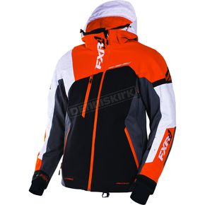 FXR Racing Black/Orange/Charcoal Renegade X Jacket - 170012-1030-10