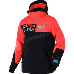 FXR Racing Black/Orange/Teal Squadron Jacket - 170023-1030-19
