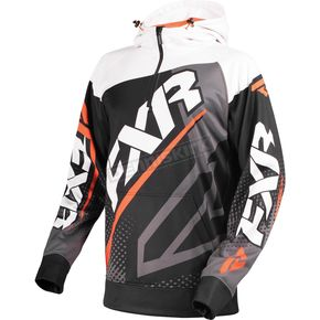 FXR Racing Black/Orange/White Race Tech 1/4 Zip Hoody - 170926-1030-19