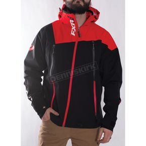 FXR Racing Black/Red Mission Trilaminate Shell Jacket - 170900-1020-07