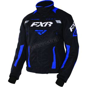 FXR Racing Black/Royal Blue Octane Jacket - 170006-1044-10