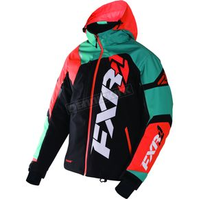 FXR Racing Black/Teal/Orange Revo X Jacket - 170025-1055-16