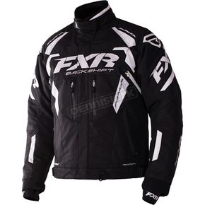FXR Racing Black/White Backshift Pro Jacket - 170000-1001-22