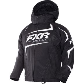 FXR Racing Child's Black/White Helix Jacket - 170409-1001-08