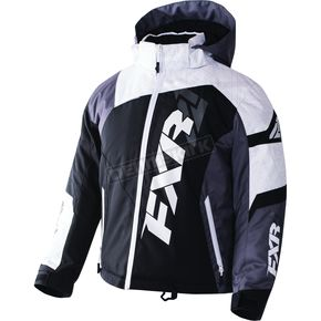 FXR Racing Youth Black/White Weave/Charcoal Revo X Jacket - 170406-1002-14