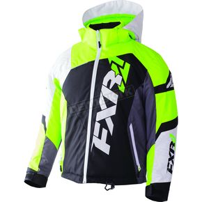 FXR Racing Youth Black/White Weave/Lime Revo X Jacket - 170406-1070-16