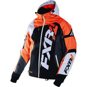 FXR Racing Black/White Weave/Orange Revo X Jacket - 170025-1030-13