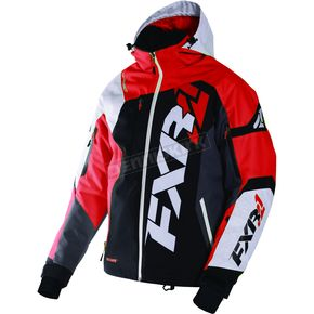 FXR Racing Black/White Weave/Red Revo X Jacket - 170025-1020-16