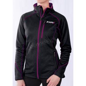 FXR Racing Women's Black/Wineberry Elevation Tech Zip-Up - 171001-1085-18
