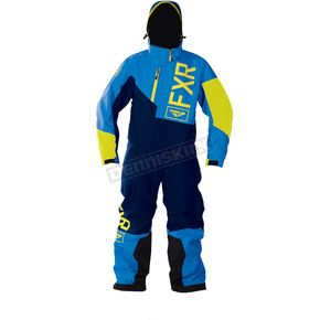 FXR Racing Youth Blue/Navy/Hi-Vis Squadron Monosuit - 173000-4045-12