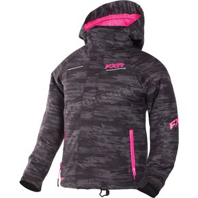 FXR Racing Youth Charcoal Cascade/Electric Pink Fresh Jacket - 170401-0694-12