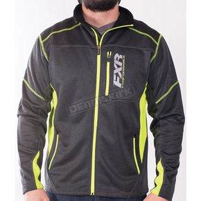FXR Racing Charcoal Heather/Hi-Vis Elevation Tech Zip Up - 170909-0865-19