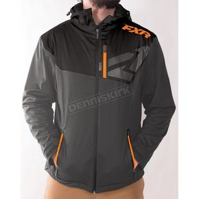 FXR Racing Charcoal/Black/Orange Clutch Dual-Laminate Jacket - 170902-0830-10