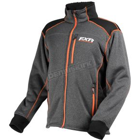 FXR Racing Charcoal/Black/Orange Trekker Sherpa Tech Zip-Up - 170908-0830-10