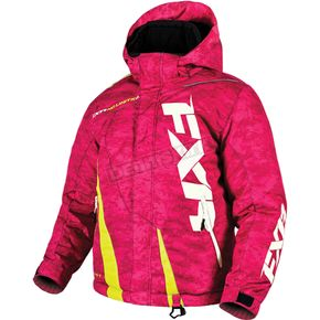 FXR Racing Youth Electric Pink Digi/Hi-Vis Boost Jacket - 170404-9765-16