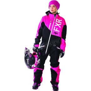 FXR Racing Fuchsia/Black/White Insulated Squadron Monosuit - 172905-9010-14