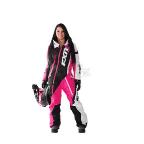 FXR Racing Fuchsia/Black/White Tri Maverick Monosuit - 172901-9010-08