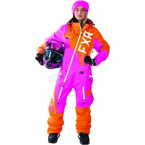 FXR Racing Women's Fuchsia/Orange Ranger Instinct Monosuit - 172903-9030-08