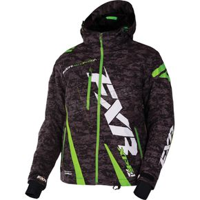 FXR Racing Gray Digi/Lime Boost Jacket - 170011-0670-16
