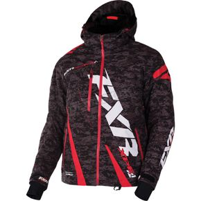 FXR Racing Gray Digi/Red Boost Jacket - 170011-0620-22