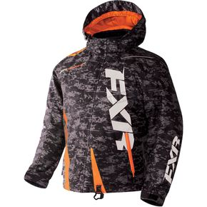 FXR Racing Youth Gray Digi/Orange Boost Jacket - 170404-0630-10