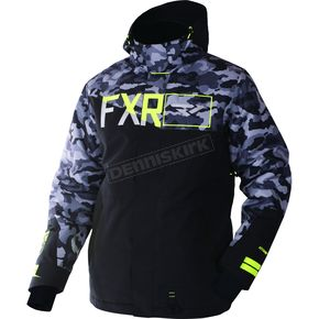 FXR Racing Gray Urban Camo/Black/Hi-Vis Squadron Jacket - 170023-0610-16