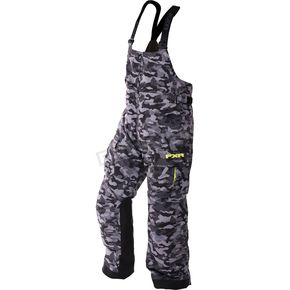 FXR Racing Gray Urban Camo/Hi-Vis Excursion Bibs - 170104-0665-19