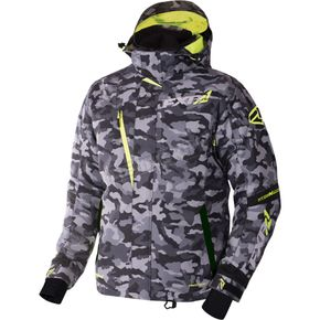 FXR Racing Gray Urban Camo/Hi-Vis Mission X Jacket - 170008-0665-22