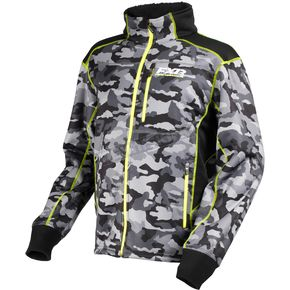 FXR Racing Gray Urban Camo/Hi-Vis Trekker Sherpa Tech Zip-Up - 170908-0665-13