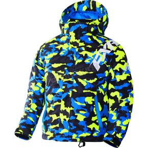 FXR Racing Child's Hi-Vis/Blue Urban Camo Squadron Jacket - 170407-6541-04