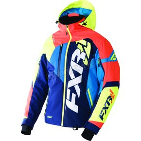 FXR Racing Navy/Orange/Hi-Vis/Blue Revo X Jacket - 170025-4530-16