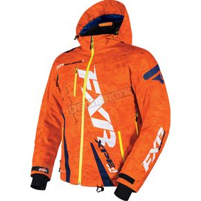 FXR Racing Orange Digi/Navy Boost Jacket - 170011-3145-10