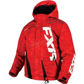 FXR Racing Child's Red Digi/Black Boost Jacket - 170410-2110-04