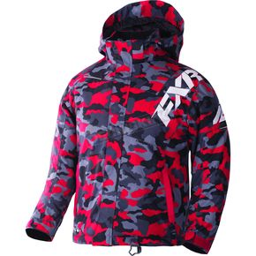 FXR Racing Child's Red Urban Camo Squadron Jacket - 170407-2101-04