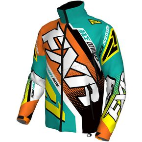 FXR Racing Teal/Orange/Hi-Vis Cold Cross Race Ready Jacket - 170029-5530-10