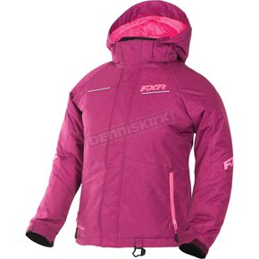 FXR Racing Child's Wineberry Tril/Electric Pink Fresh Jacket - 170408-8594-04