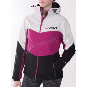 FXR Racing Women's Wineberry/Black/White Tri Fresh Softshell Jacket - 171010-8502-12